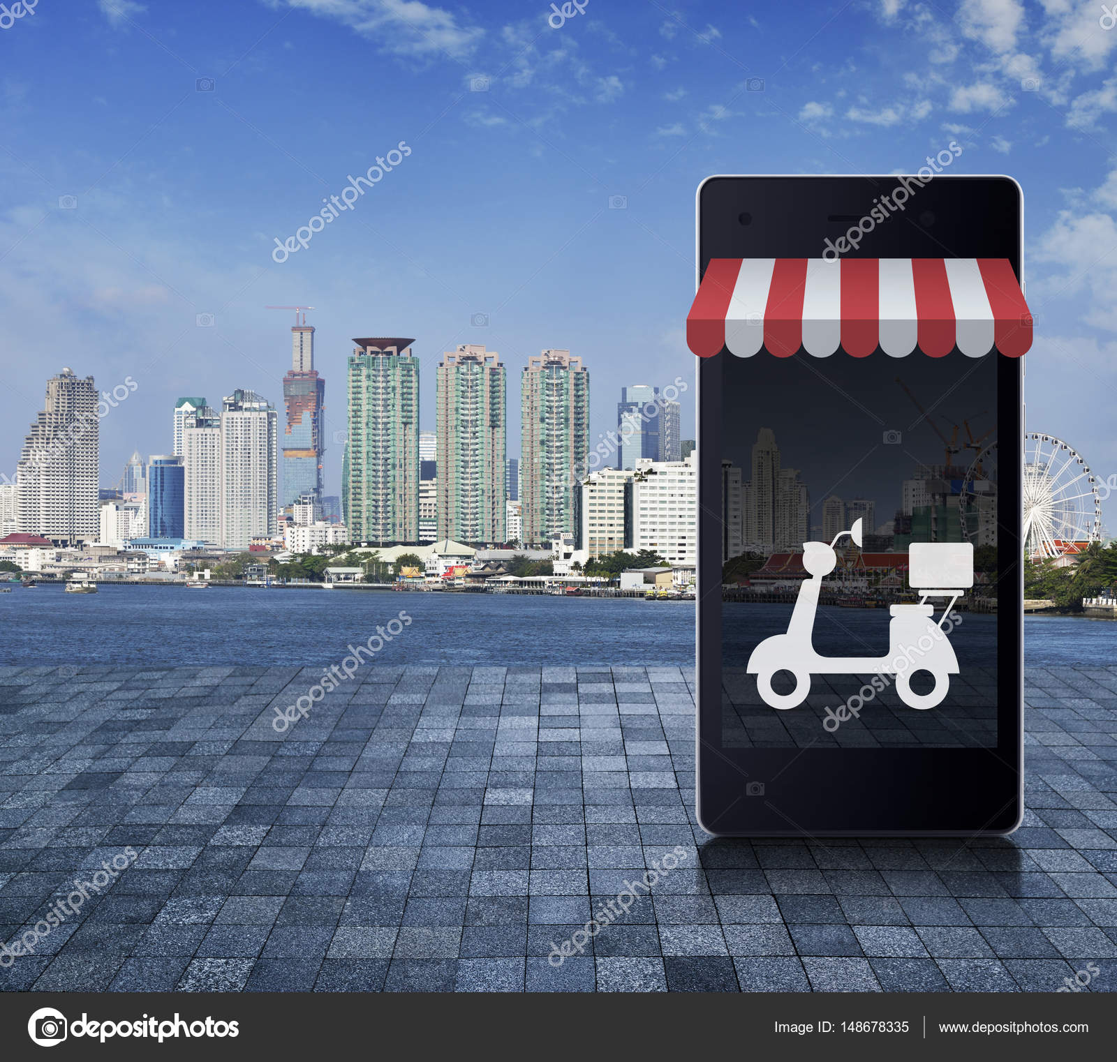 Shop online delivery service concept — Stock Photo © grapesock ...