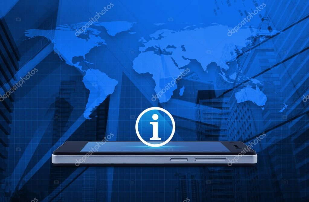 Business communication concept, Elements of this image furnished by NASA