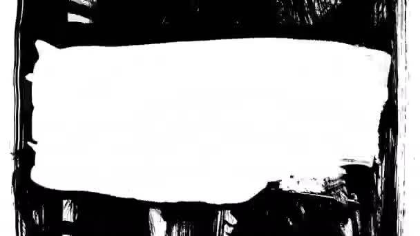 Animáció grunge - ecsetvonás. Absztrakt kézzel - festett elem.