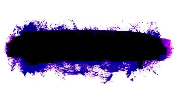 Grunge štětce tahy animace. Abstraktní ručně - malované prvek. Podtržení a hranice designu. Bezproblémové opakování pozadí. 4k