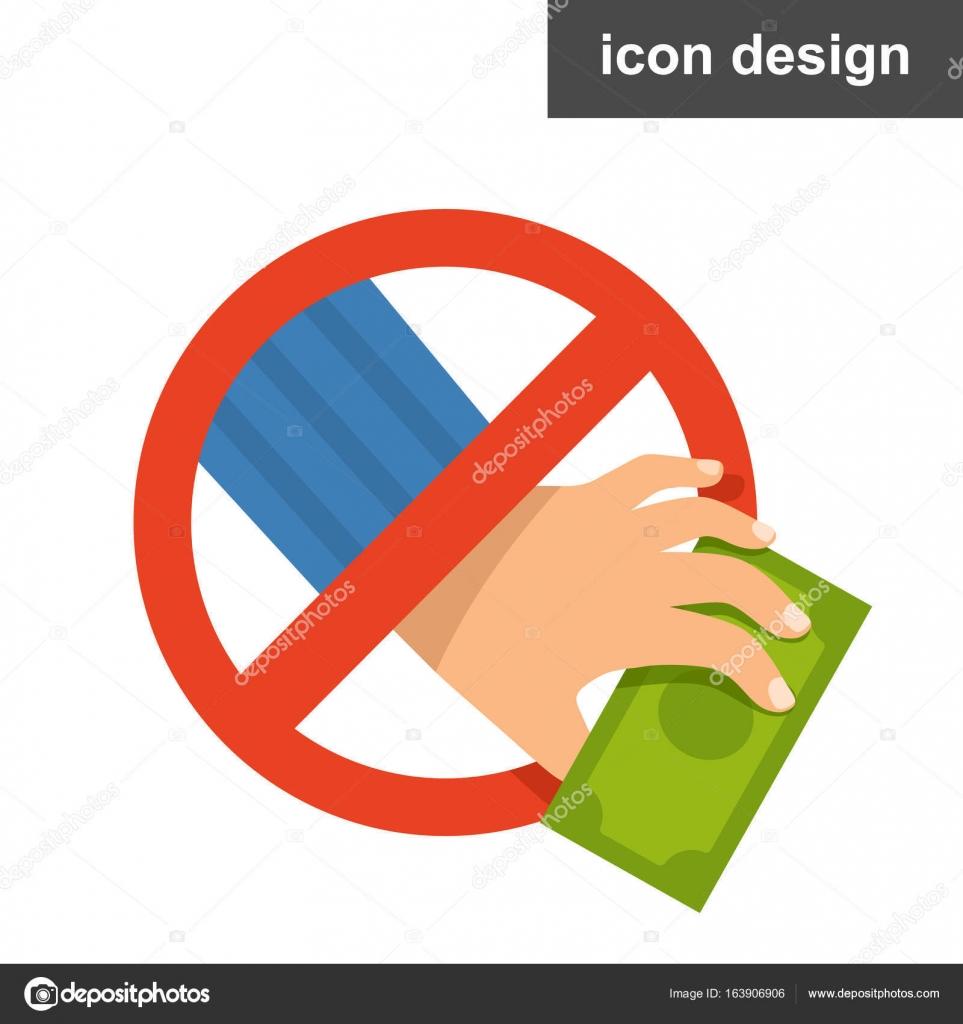 Stehlen Design vektor symbol stop korruption zu stehlen stockvektor yauhen44