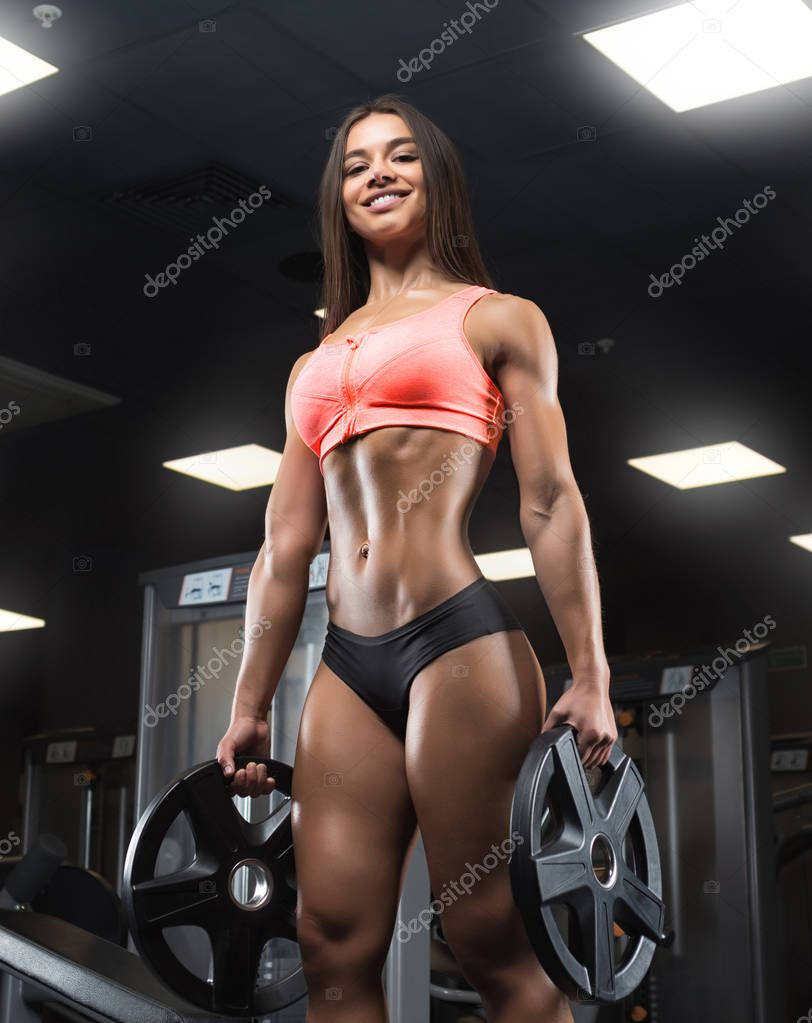 Fitness Girl Posing In The Gym  Stock Photo  Bondarchik -6168