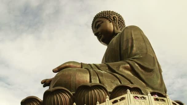 Nagy Buddha tilt megjelöl felhők Timelapse