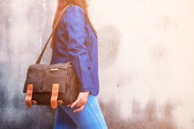 fashion of jeans and handbags.