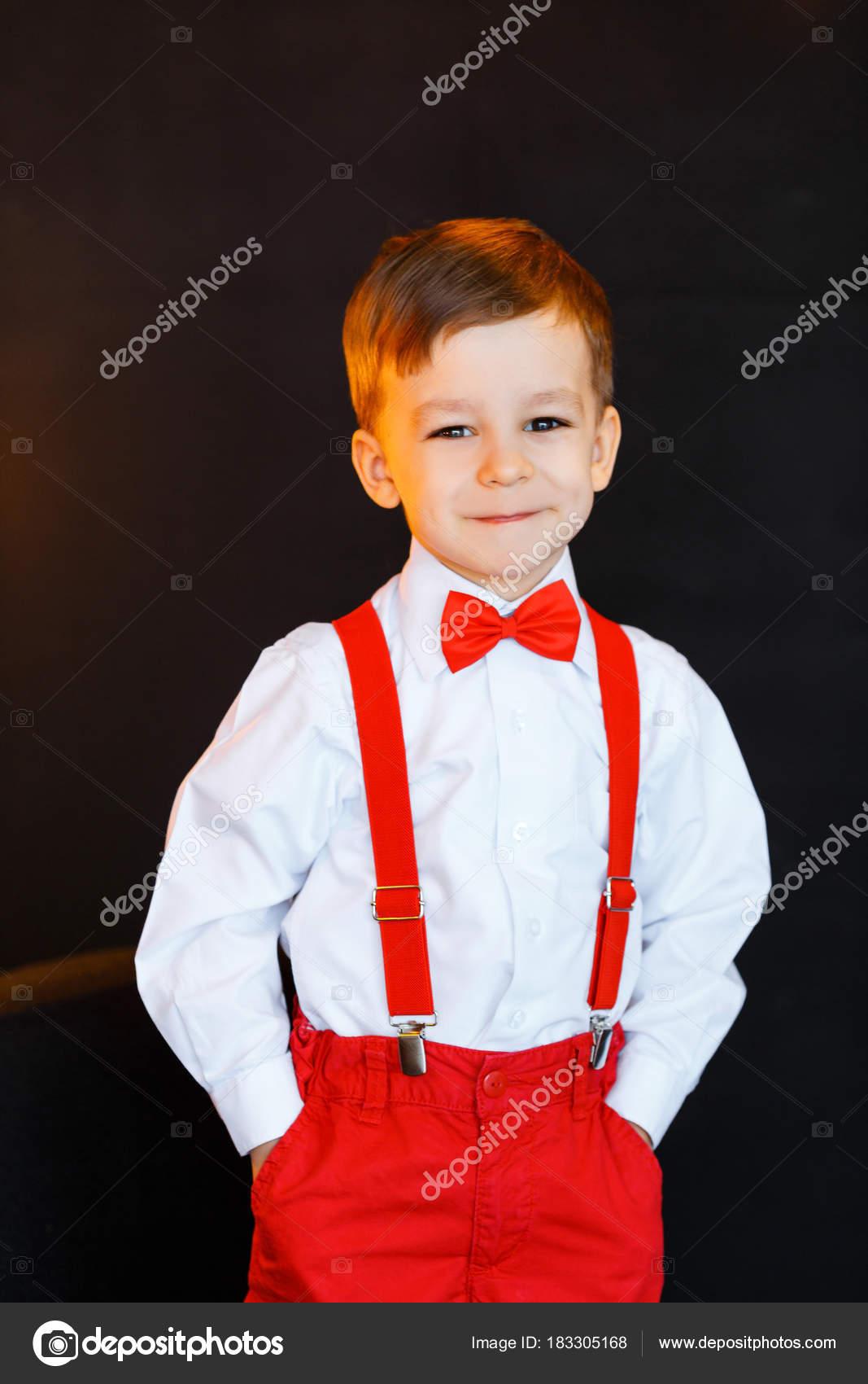 Covona BOYS BOW TIE Solid RED Color BowTie