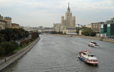 cityscape of russian capital Moscow
