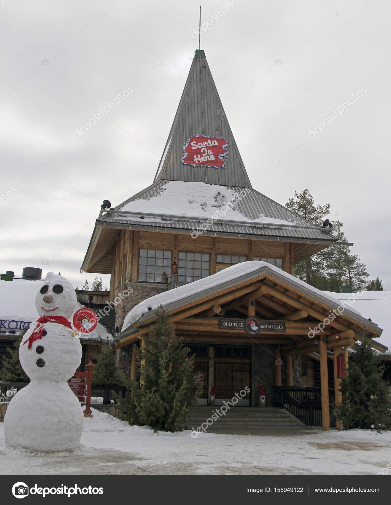 Santa Claus Office In Rovaniemi Finland Stock Editorial Photo