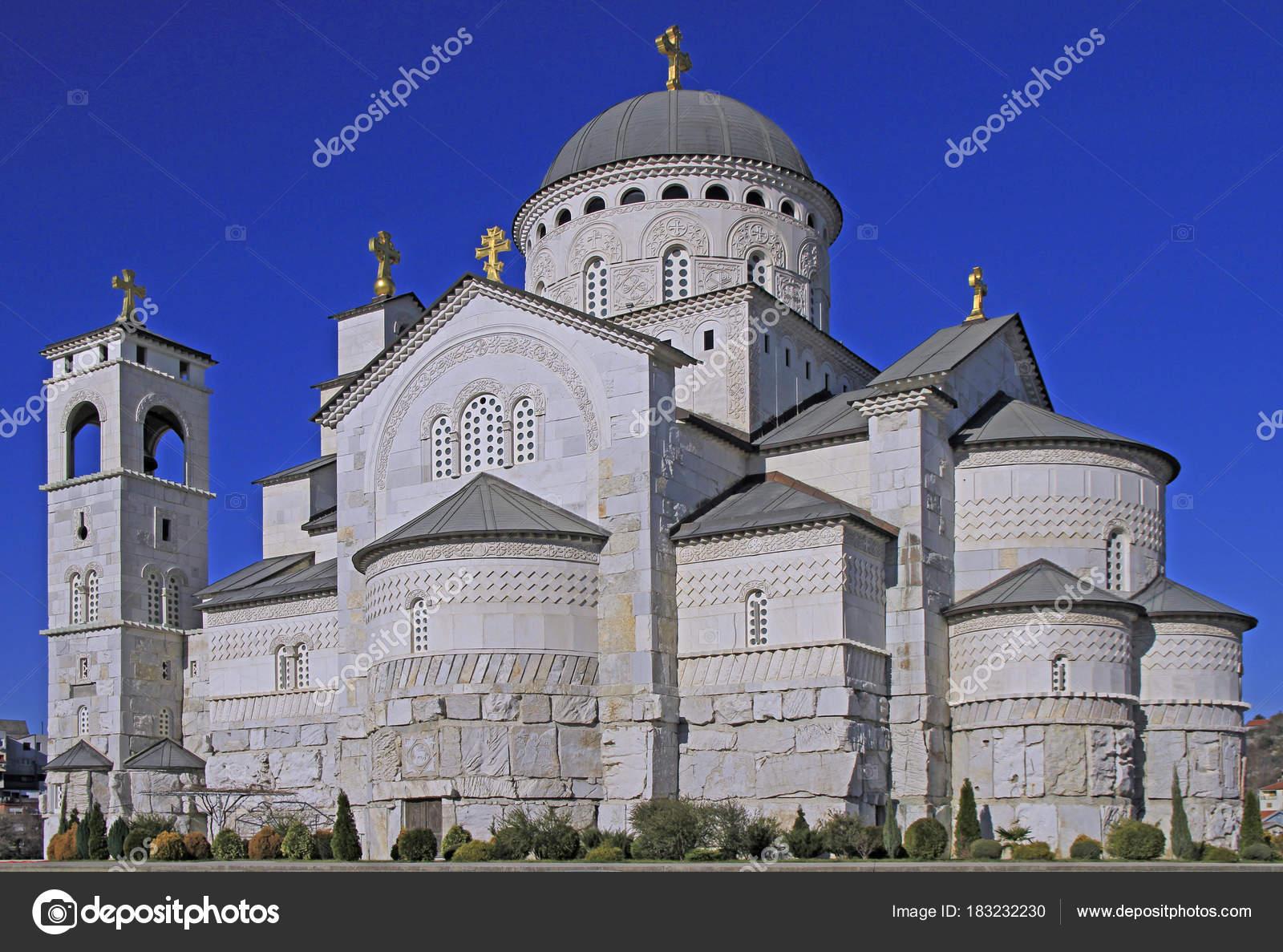La Credenza Podgorica : Cattedrale della risurrezione di cristo a podgorica u foto stock