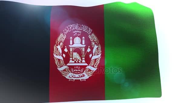 Afghanistan flag waving wind