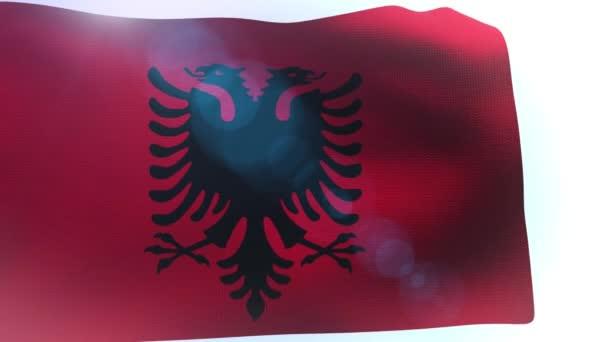 Flag of Albania wave waving wind