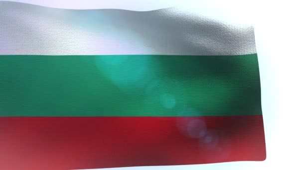 Bulgaria flag wave waving