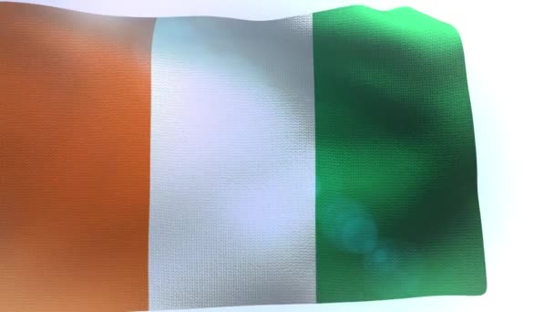Ivory Coast waving flag wind