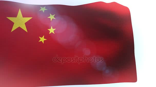 China flag blowing in the wind wave waving