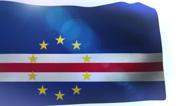 Integetett a szél fúj, zöld-foki Köztársaság zászlaja