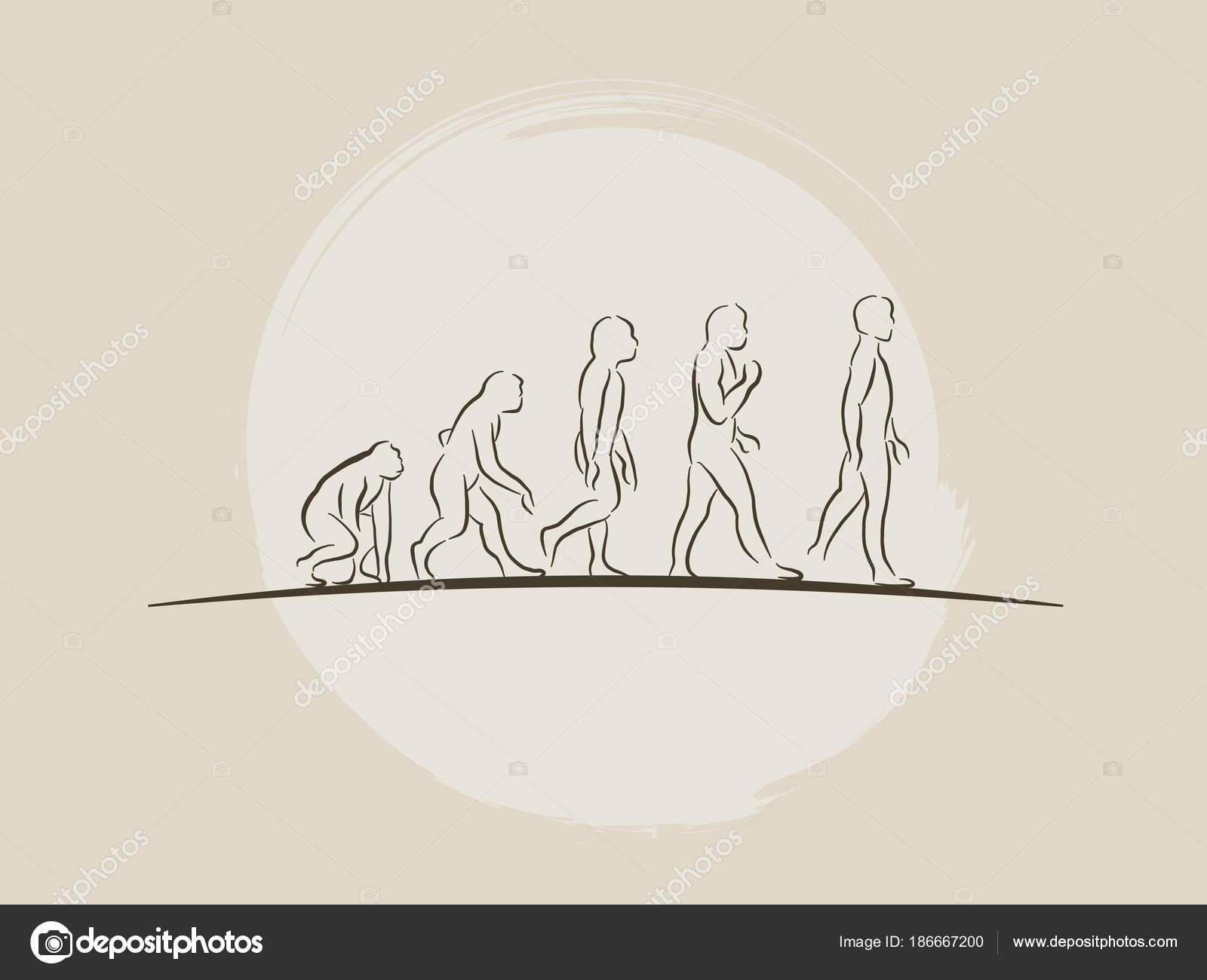 Teoría de la evolución de la ilustración de vector hombre ...