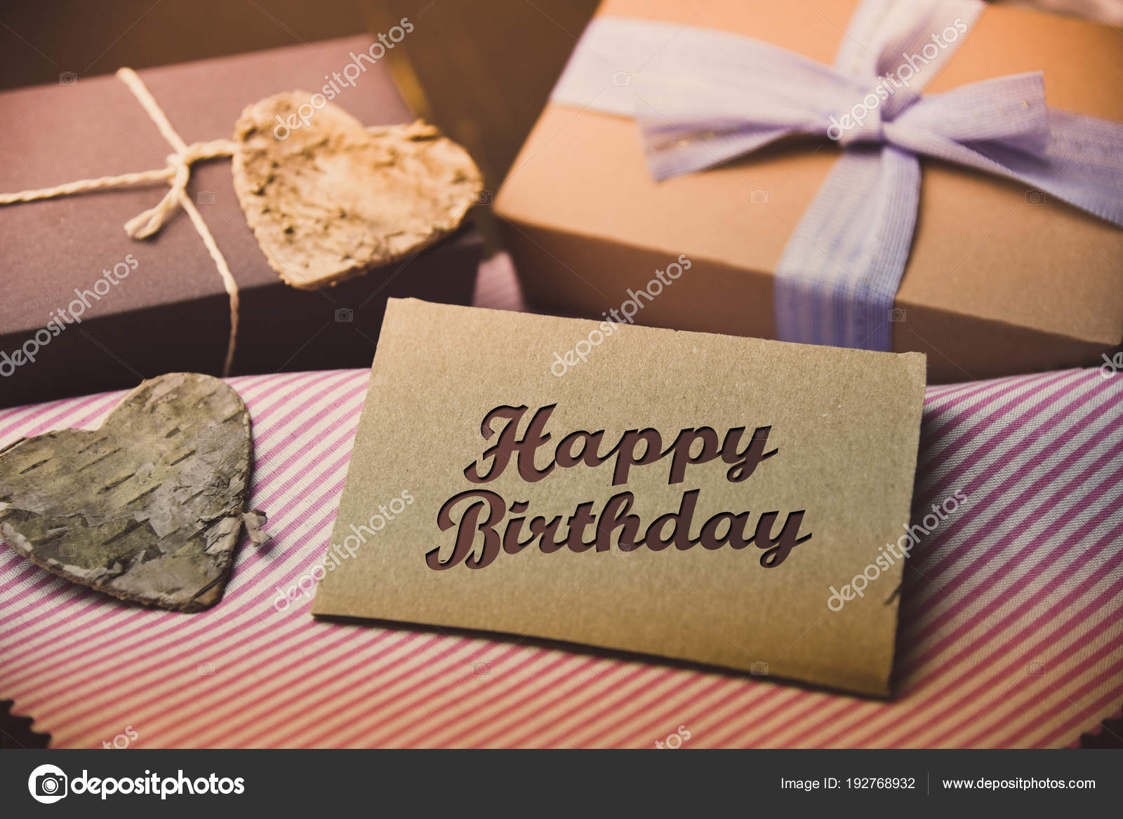 Happy Birthday present gift hipster vintage man u2014 Stock Photo & Happy Birthday present gift hipster vintage man u2014 Stock Photo ...