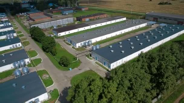 Aerial view of Industrial chicken house