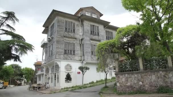 ADALAR, TURKEY, JUNE 5 2017: elegant wooden mansion house in island