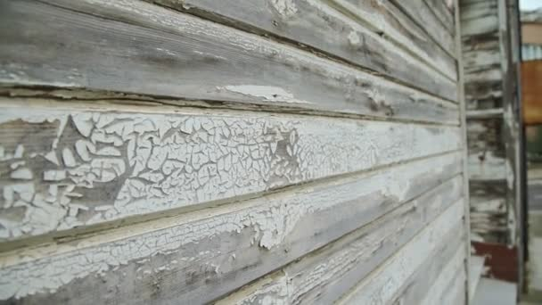 Elegant wooden wall of mansion house in island