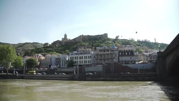 Tbilisi the Narikala fortress and fast cable cars