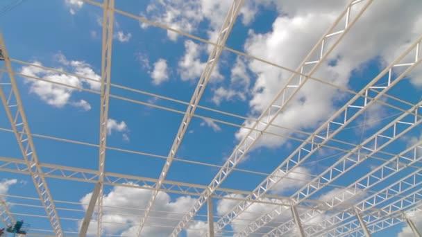 Épület új nagy raktár komplex
