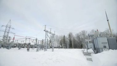 Průmyslové rozvodna vysokého napětí transformátor v elektrárně