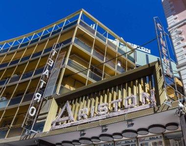 Ariston theater site in Sanremo Italian tourist city