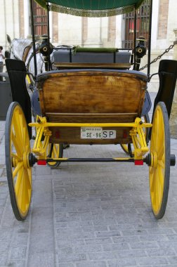 Wheels of a horse carriage