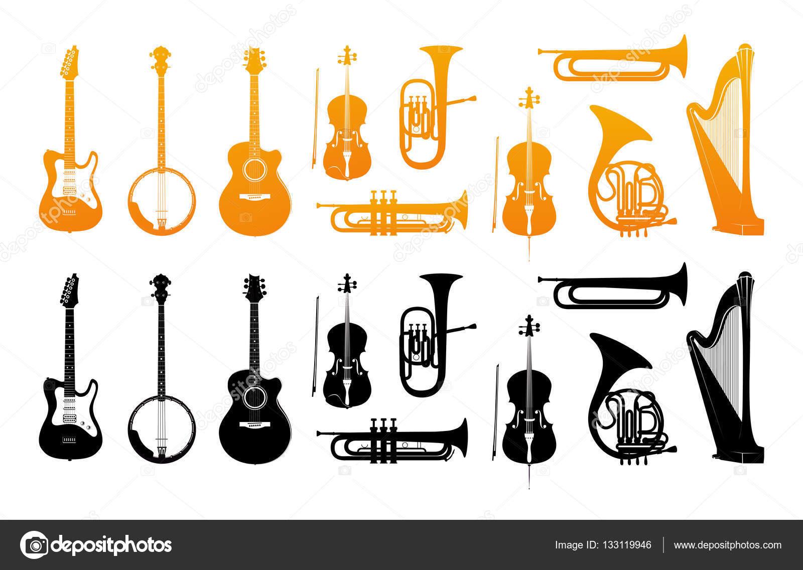 オーケストラの楽器のアイコンを設定 ストックベクター Morozicoff