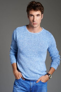 fashion man model in  sweater