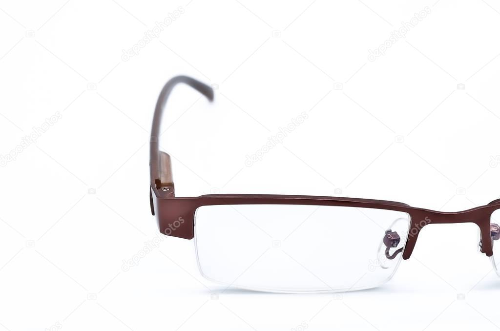 Modern Optical Glasses On White Background Stock Photo Vichailao
