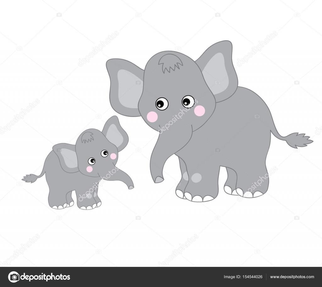 Vektor Niedlichen Elefanten Stockvektor Marlenes9 154544026