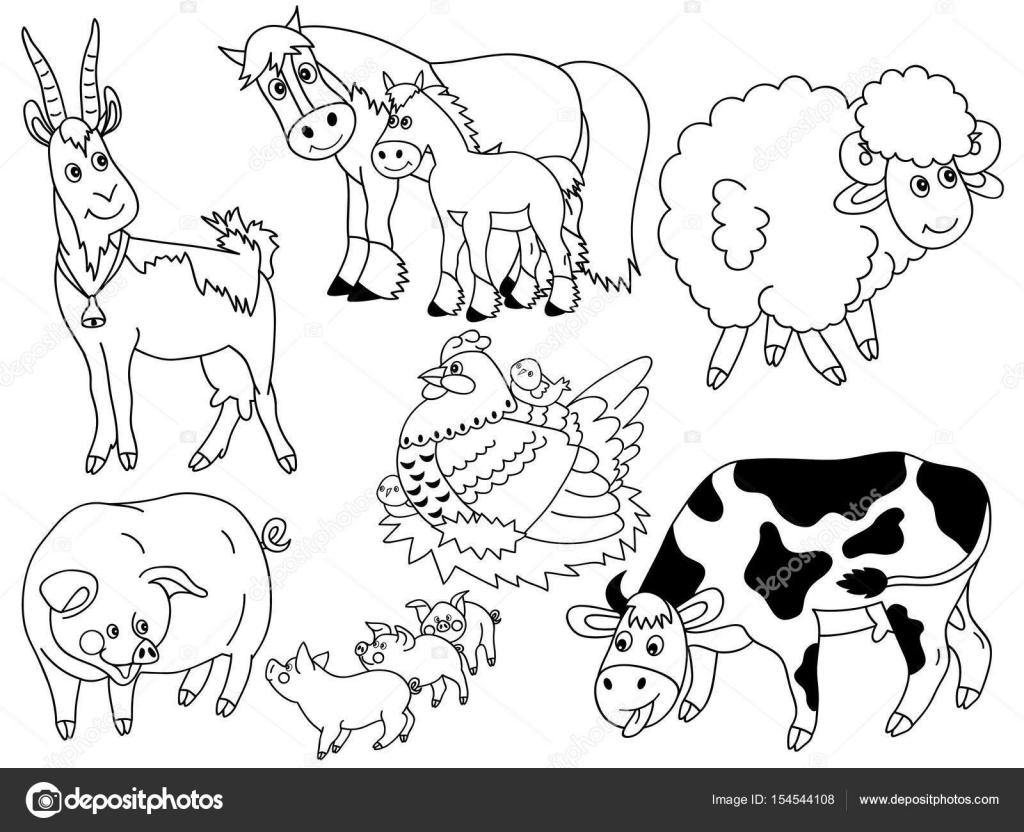 Vectores animales de granja — Archivo Imágenes Vectoriales ...