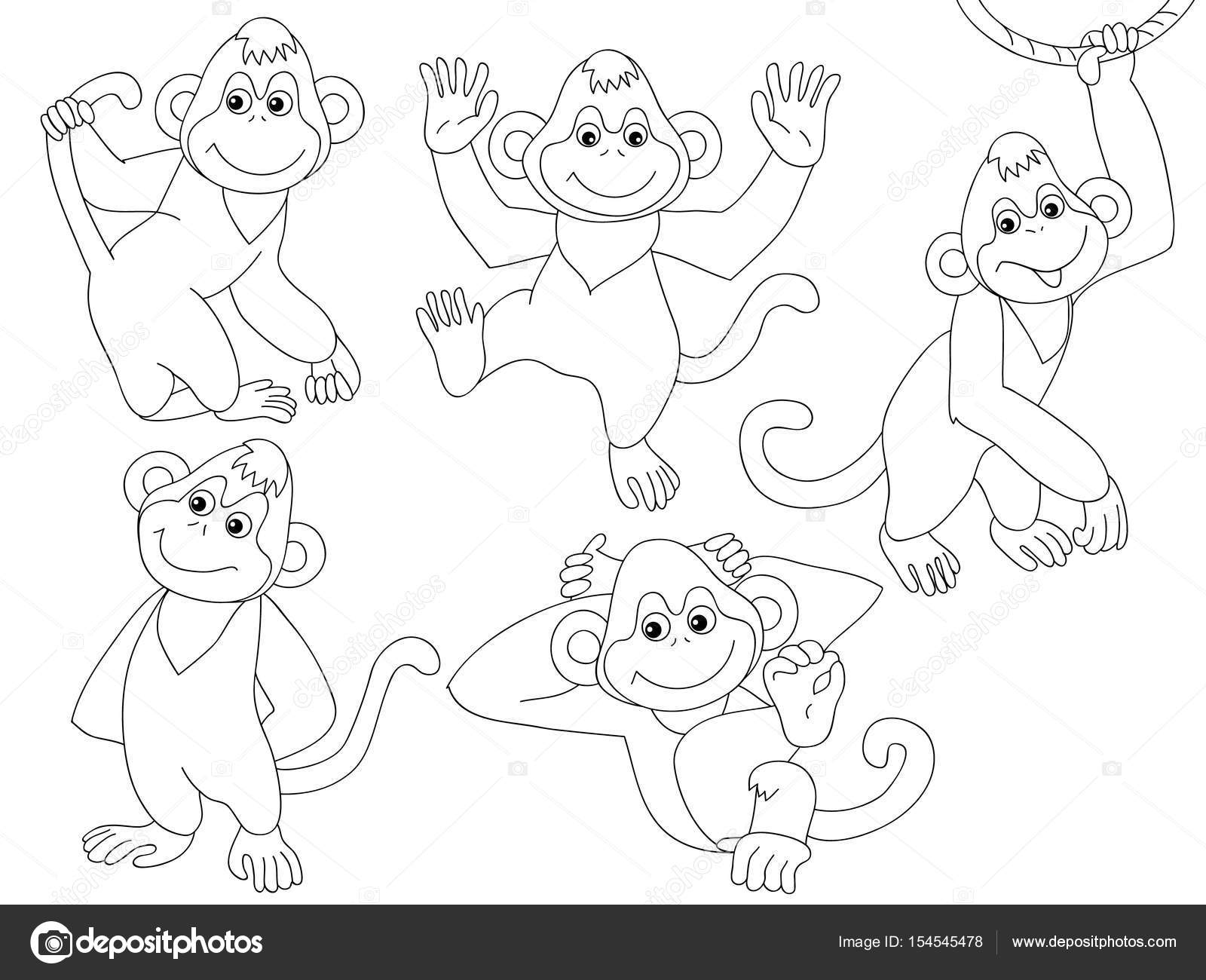 Vector conjunto de monos — Archivo Imágenes Vectoriales © marlenes9 ...