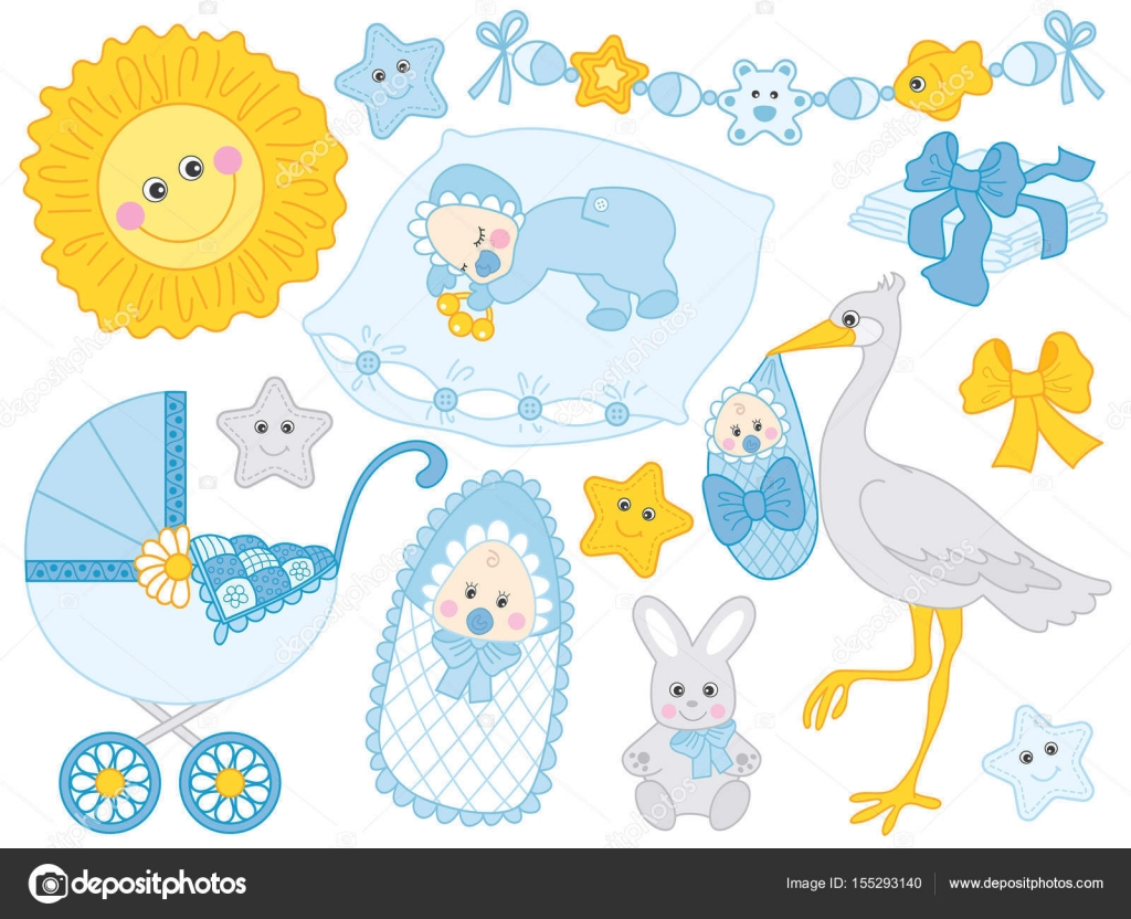 Clipart Clip Art For Baby Shower Vector Baby Boy Set Baby Shower Clipart Vector Illustration Stock Vector C Marlenes9 155293140