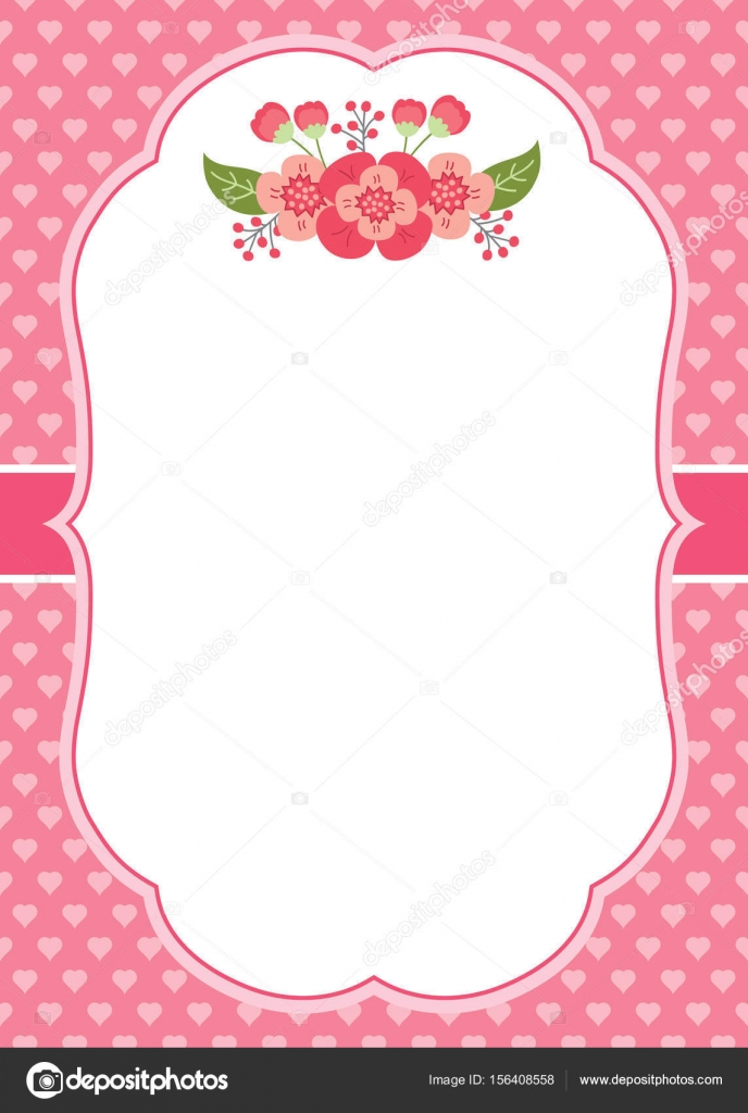 Vector card template with pink flowers on hearts background stock vector card template with pink flowers on hearts background stock vector mightylinksfo