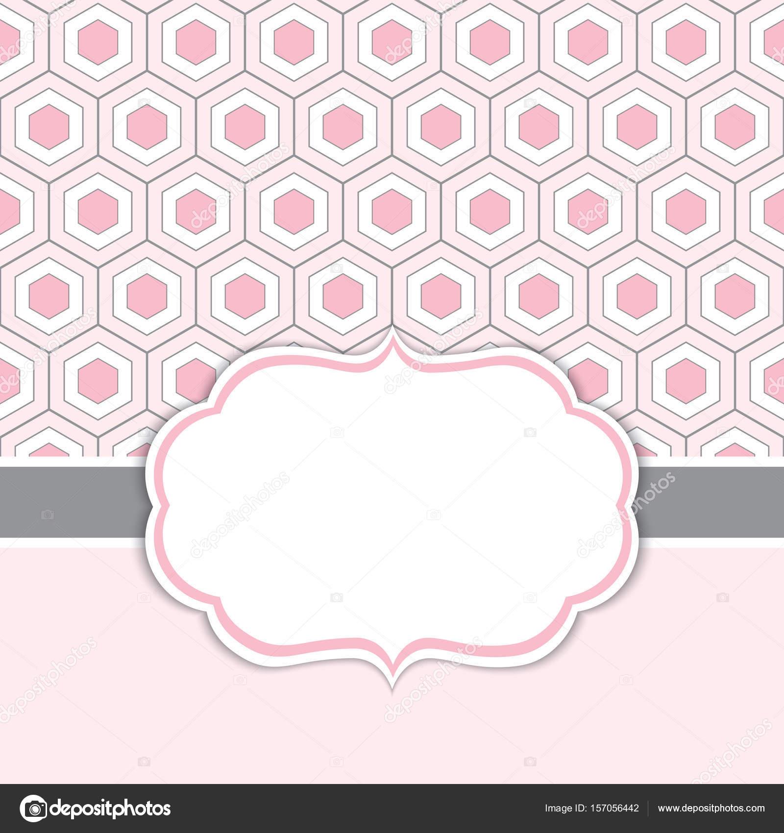 Plantilla de tarjeta de vector con estructura en nido de abeja de ...