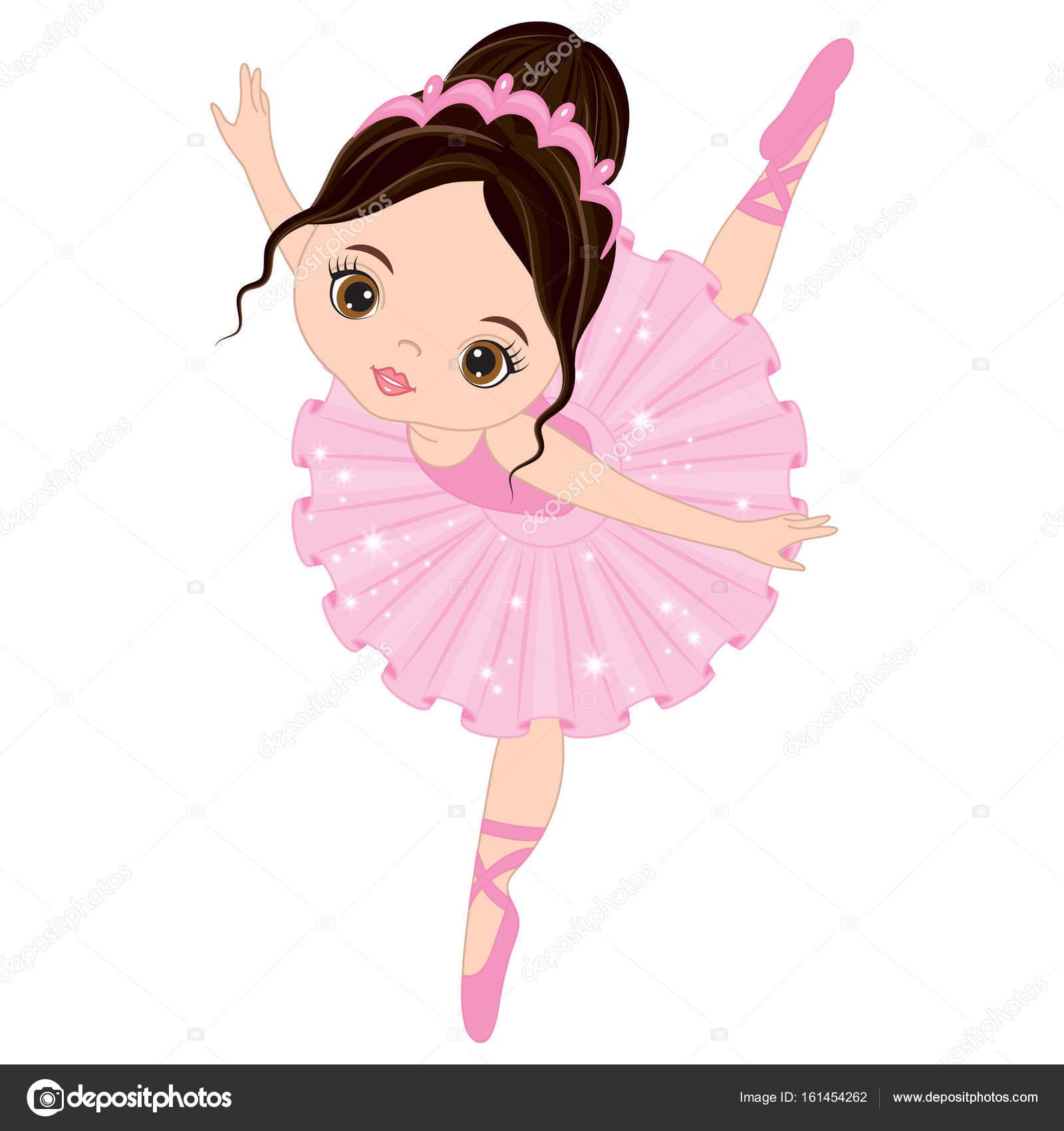 Bailarina De Ballet Feliz Cumpleanos Vector Lindo Poco Bailarina