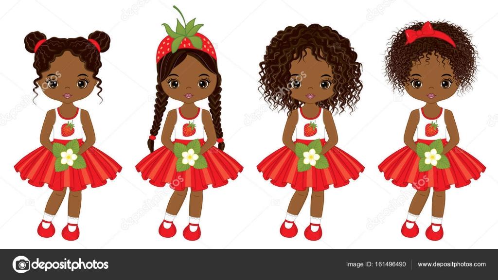 Cute lil black girl hairstyles | Vector Cute Little African ...