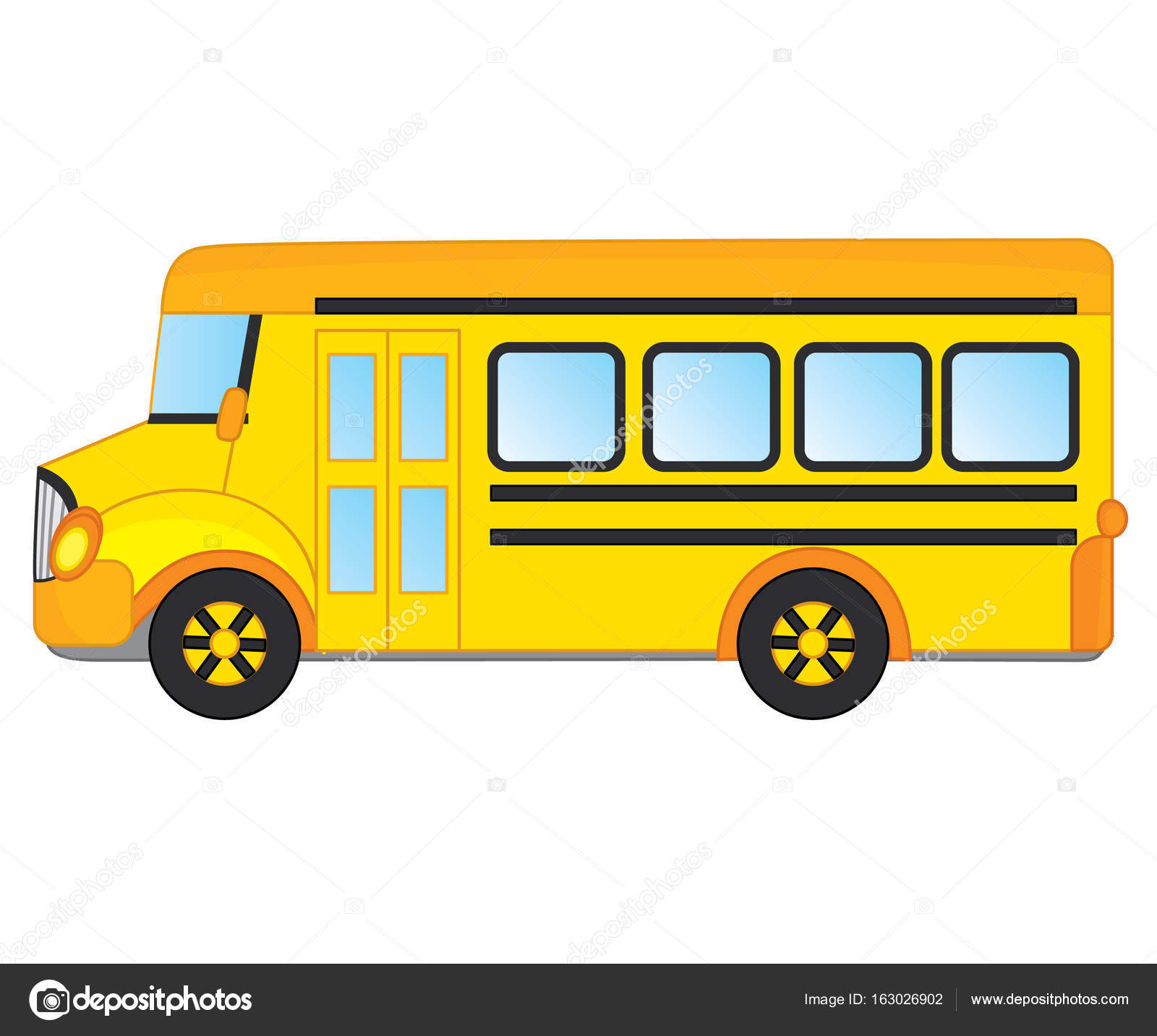 vector school bus stock vector marlenes9 163026902 rh depositphotos com school bus vector ai school bus vector png