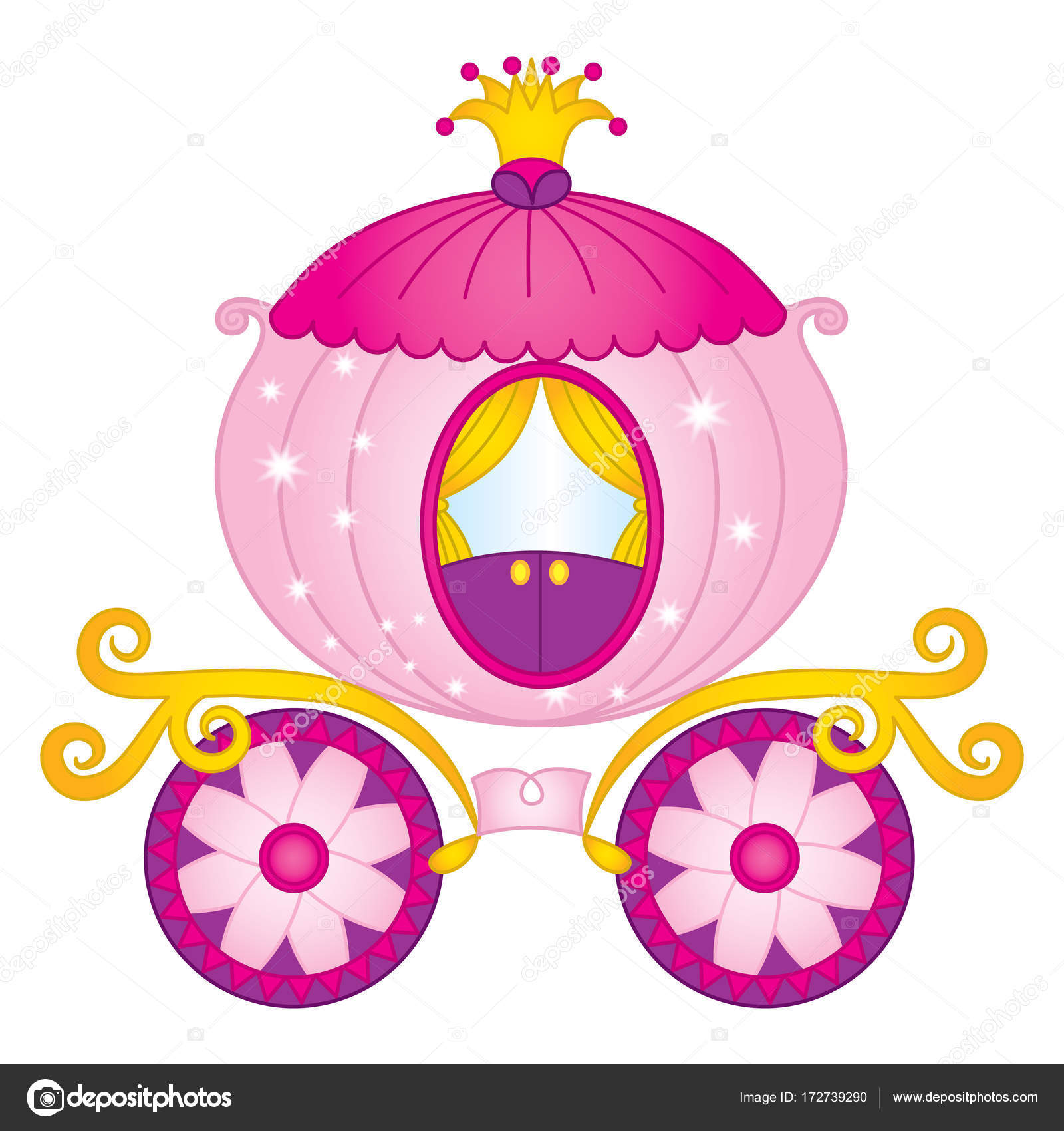 Carro de princesa Vector, Vector Cinderella carro — Vector de stock ...