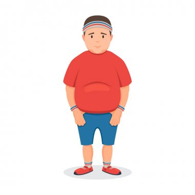 Fat man in a sports uniform