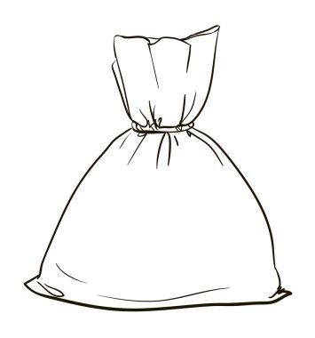 Illustration of canvas sack