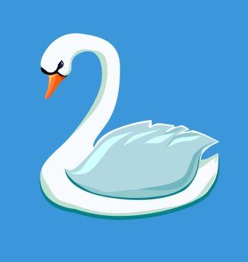 sketch of swan closeup