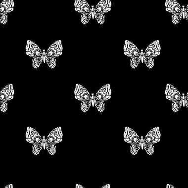seamless sketches of butterflies