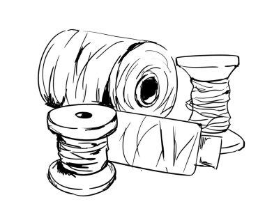 skein of threads sketch