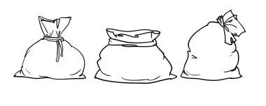 Canvas white sacks