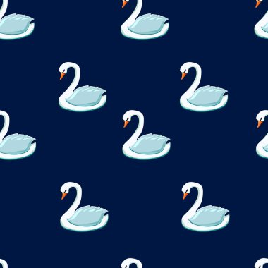 sketch of seamless swans