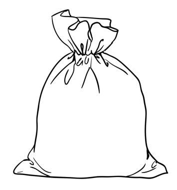 Canvas sack closeup