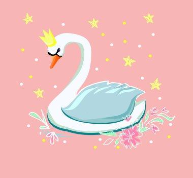 sketch of beautiful swan